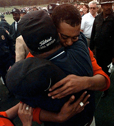 This image has an empty alt attribute; its file name is Tiger-and-Earl-Woods.jpg