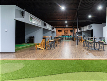 Swing Away At Element Indoor Golf Club